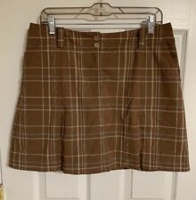Nike Fit Dry Golf Skirt Skort With Pleats At Hem Line Brown Size 10