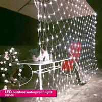 LED String Fairy Light Net Curtain Christmas Xmas Wedding Party Decor In/Outdoor