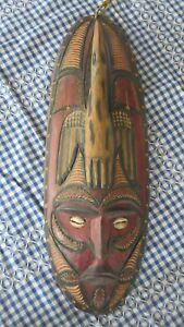 Vintage Papua New Guinea Wooden Mask Carving - Highlands 1970's