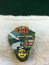 Hard Rock Cafe Pin Fiji Greetings From Guitar Pick w Nadi Airport & Mountains