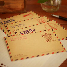 10 x Craft Paper Mini Envelopes in Vintage Look Fashion Stationary
