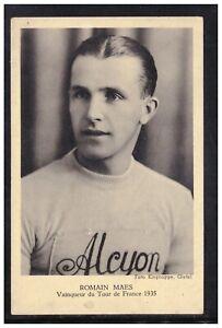 Cartolina Sport Ciclismo Romain Maes Vincitore Tour de France 1935 KM102