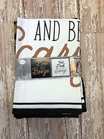 Set of 2 Halloween bar towels kitchen decor Boos and Booze Eat drink and scary