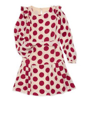$520 NWOT BURBERRY GIRLS SILK POLKA DOT LENKA DRESS SIZE 6Y