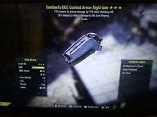 MY TIME, FREE 3* Sentinel Assassin's +1 Luck BOS Combat Armor Right Arm XBOX