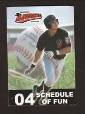 High Desert Mavericks--Dave Krynzel--2004 Pocket Schedule--O'Doul's--Brewers