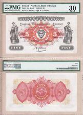 Beautiful 1943 £5 Bank of Ireland note, Northern Ireland.  VF30 condition