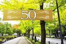 Folat Banner 50 Goldhochzeit Polyester Ca. 40x180cm