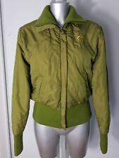 ROCA WEAR DESIGNER WOMENS GREEN PUFFER  BOMBER JACKET COAT SIZE M UK 12
