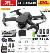 Faltbar WIFI FPV Drohne mit 4K  HD Kamera Mini Selfie Quadrocopter RC Drone DE