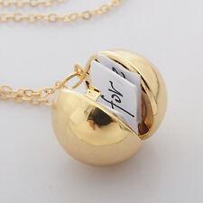 New Handmade Secret Message Ball Locket Pendant Necklace Friendship Best Friend