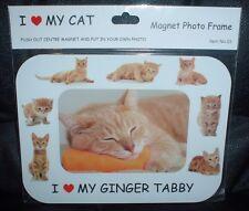 Ginger Tabby I Love My Cat Magnetic Photo Frame
