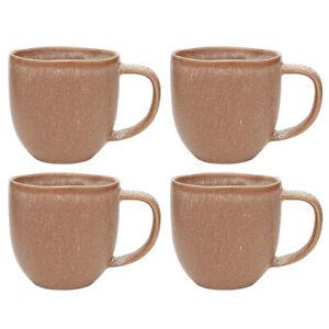 4x Ecology Dwell Mug Terracotta 340ml Stoneware Coffee Drink/Tea Drinking Cup RD