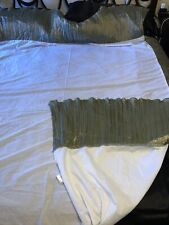 Waterford Queen Size Gathered Bed Skirt Dust Ruffle Shimmering Green 15� Euc