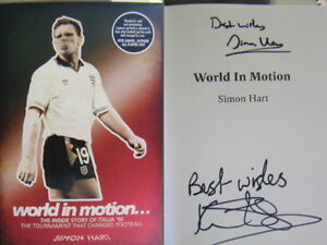 Signed Book World in Motion Simon Hart Italia World Cup 1990 Hb 2018 Football