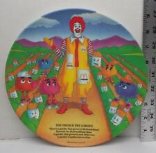 Vintage McDonalds The French Fry Garden Plastic Plate 1989
