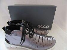 ECCO Intrinsic Dark Shadow Metallic Chukka Leather Shoes US 9 - 9.5 EUR 40 NWB