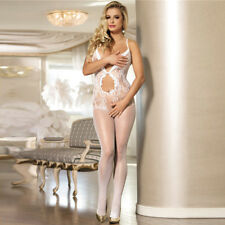 Sexy RBM Bodystocking PETAL White 8 10 12  Very Sexy Fishnet Legs Open Front