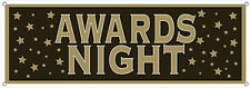 "5 Feet - 63"" AWARDS NIGHT Black & Gold Sign Banner Party Decoration Grammy oscar"