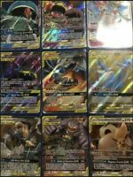Pokemon cards TCG 50 bulk Lot 1x ULTRA RARE Team GX 9 rares/shiny Amazing Gift