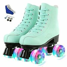 New listing Hurber XUDREZ Women Roller Skates High-Top Double-Row PU Leather Roller Skate...