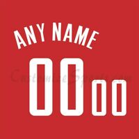 Houston Rockets Basketball Customized Number Kit for Red Jersey