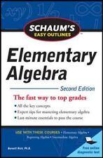 Schaum's Easy Outline of Elementary Algebra, Second Edition (Paperback or Softba