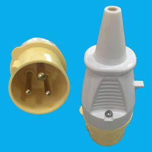 16A 110V Yellow Construction Industry IP44 Ceeform 3 Pin Heavy Duty Power Plug