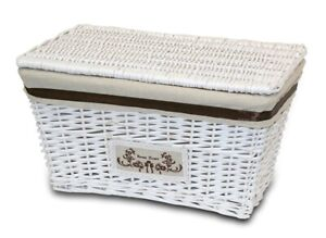 Chest/Box Wicker White