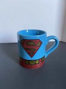 DC Comics Superman Glitter Mug Coffee Cup 14 oz
