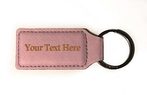 Customized 3D Laser Engraved Custom Personalized Keychain Gift (PINK) …