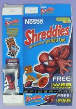 Spider-Man Shreddies Cereal Box & Web Shooter Toy,  2003