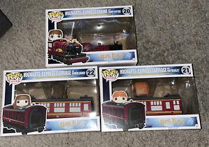 Funko Pop Rides Hogwarts Express Train #20 #21 #22 Harry Potter, Ron, Hermione