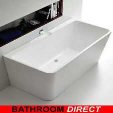 BDA AQUA 1400 Wall Faced Free Standing Bath Back To Wall Freestanding Bath Tub