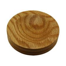 Wood Piano Caster Cups - Standard Size - Oak Satin