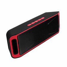 SC208 4.0 Bluetooth Wireless Speaker Stereo Subwoofer Support FM TF USB Red