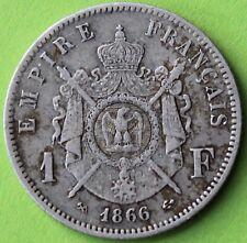 FRANCE 1 FRANC NAPOLEON III 1866 K