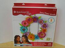 American Girl Crafts Fancy Flower Wreath 233 pieces NIP VHTF