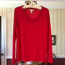 Soma Red Long Sleeve Pajamas Lounge Top Size XS