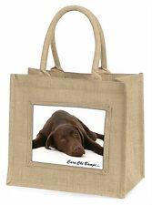 Welsh Chocolate Labrador 'Caru Chi Bampi' Large Natural Jute Shopp, AD-L54ccbBLN