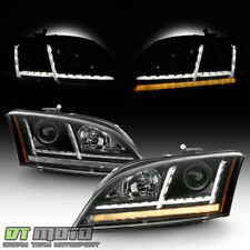 [Halogen] 2008-2014 Audi Tt Led Drl Sequential Turn Signal Projector Headlights (Fits: Audi)