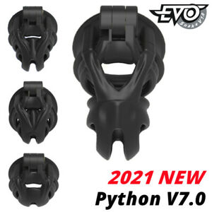 NEW Snake V7.0 EVO 3D Cobra Cage Mamba Male Chastity Device Double-Arc Cuff Ring