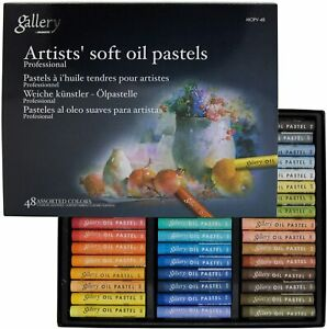 Mungyo Gallery Artists' Soft Oil Pastel Set 48 Assorted Color Pastels MOPV-48