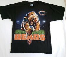 Chicago Bears Vintage 90s Liquid Blue Black Short Sleeve Shirt Mens Medium