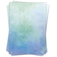 50 Blatt Briefpapier Set A4 Motivpapier Bastelpapier blau Stein Struktur