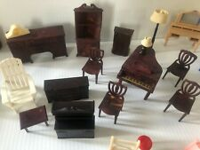 Large Lot Of Vintage Plastic Dollhouse Furniture And Kitchen Accessories