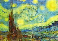 Vincent Van Gogh - Starry Night - 3D Lenticular Postcard Greeting Card