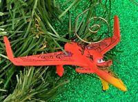 Disney Pixar Planes Movie Airplane Figure Custom Christmas Tree Ornament OOAK