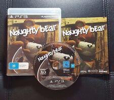 Naughty Bear (Sony PlayStation 3, 2010) PS3 - FREE POST