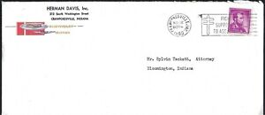 1960 CRAWFORDSVILLE, IN BUSINESS COVER - HERMAN DAVIS INC. - CHEVROLET CORVAIR!